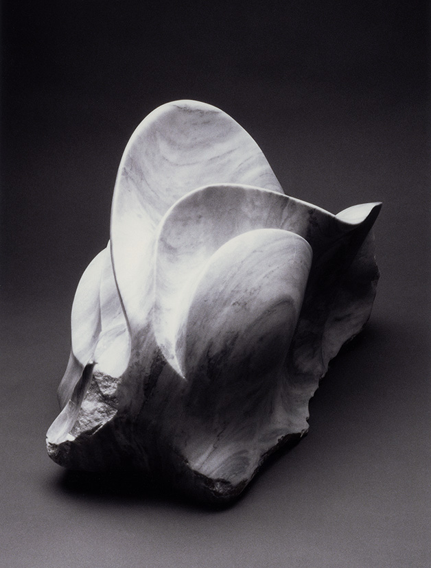 Jania Ashby marble sculpture, Butterfly By Committee